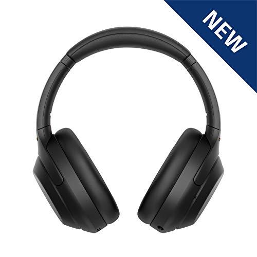 Sony WH1000XM4| Casque Bluetooth à réduction de bruit sans fil, 30 heures d'autonomie, avec micro pour appels téléphoniques, optimisé pour Amazon Alexa et Google assistant, Noir