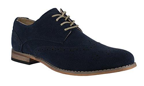 Zapatos para hombre, estilo clásico y formal, con cordones, de ante sintético, color, talla 42.5