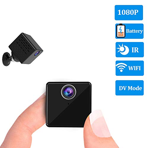 YXWC Baby Monitor with Camera and Audio Wireless WiFi Video Long Range Best 1080P Mini Rechargeable Battery IP Security Sureveillance and DV Recorder 2 in 1