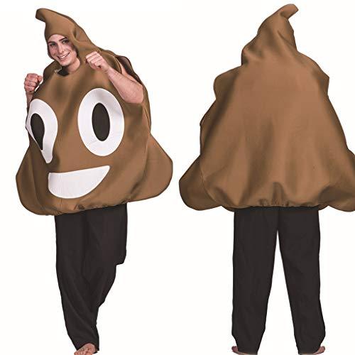 99native Erwachsene Halloween Bühnenkostüm Parodie Lustige Poop Ausdruck Cosplay Kleidung Requisiten (Brown)