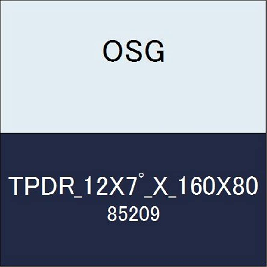 漂流電化する印刷するOSG テーパーエンドミル TPDR_12X7?_X_160X80 商品番号 85209