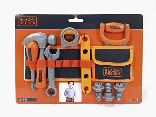 Smoby Black+Decker 360192 - Cinturón de Herramientas para niños (14 Accesorios)