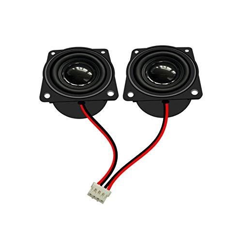WNJ-TOOL, 2 stücke 1,5 Zoll Full Range Lautsprecher 4Ohm 3w 40mm Hohlraumlautsprecher mit Kabel für Multimedia Lautsprecher Werbemaschine Deep Bass (Größe : 1.5