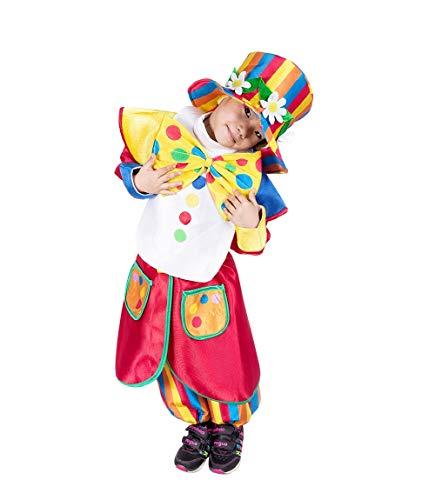 Seruna Disfraz de Payaso F138 Tamaño 2-3 años (92-98 cm), Trajes de niños y niñas, para el Carnaval, también Adecuado como Regalo de cumpleaños