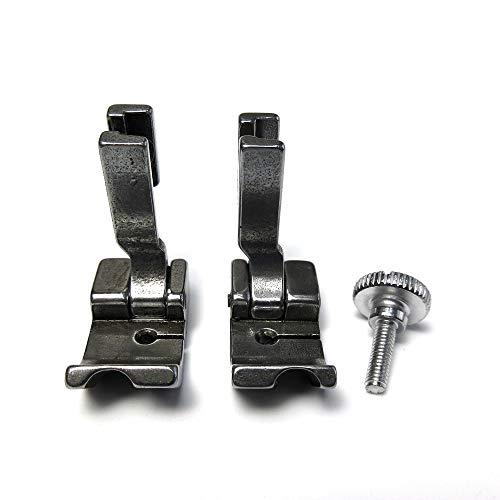 Prensatelas de soldadura de tubería izquierda y derecha para máquina de coser industrial Juki Ddl-8500 8700 8300 5550 (1/4 pulgadas)