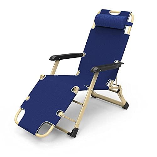 SCJ Tumbona multiposición, Silla Plegable reclinable, Silla con Respaldo Ajustable para Acampar al Aire Libre y jardín, sillones reclinables de Gravedad Cero, Color Negro
