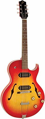 Cheap The Loar LH-302T-CCB Dual P-90 Thinbody Cutaway Electric Guitar Cherryburst Black Friday & Cyber Monday 2019