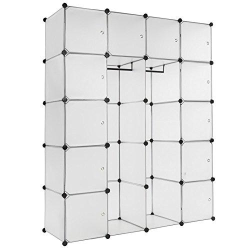 Helloshop26 2008075 Armoire de Rangement, Blanc, 15 x 15 x 25 cm