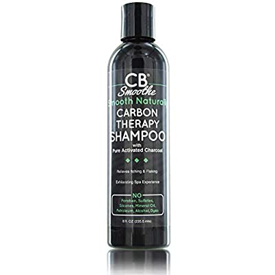 Smooth Naturally by CB Smoothe – Carbon Therapy Shampoo (8 Oz) – with Pure Activated Charcoal, Peppermint, Tea Tree and Green Tea - Relieves Itching & Flaking – Exhilarating Spa Experience by Smooth Naturally By Cb Smoothe