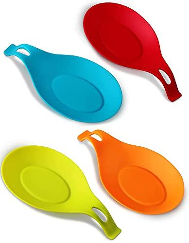 ORBLUE Poggia cucchiaio a forma ovale – Set di 4 pezzi