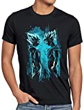 style3 Super-Saiyajin Blue Camiseta para Hombre T-Shirt Dragon Roshi Ball Vegeta Evolution, Talla:XL
