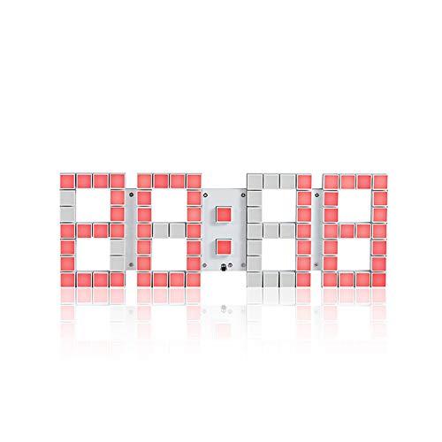 Triplsun-Clock 3D LED Digital Wecker Elektronische Büro Wanduhren, 24/12 Stunden Anzeige, Helligkeit Auto Dimmable Home Küche Desktop Schlafzimmer Wohnzimmer Uhr