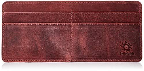 [ハレルヤ] 牛革 インナーカードケース 横型 8枚 カード入れ 長財布 HAK044-Wine-red Wine-red