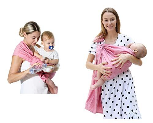 Uamita - Faja portabebé de lino al 80 % y al 20 % de algodón orgánico. Tejido rígido resistente, fresco y transpirable. Práctico y seguro para la mamá, fresco y cómodo para el bebé.
