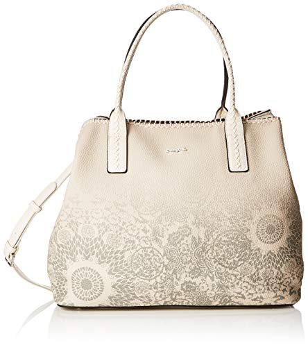 Desigual Damen Bag Double Gin_holbox Women Schultertasche, Weiß (Rainy Day), 17x30.5x37 cm