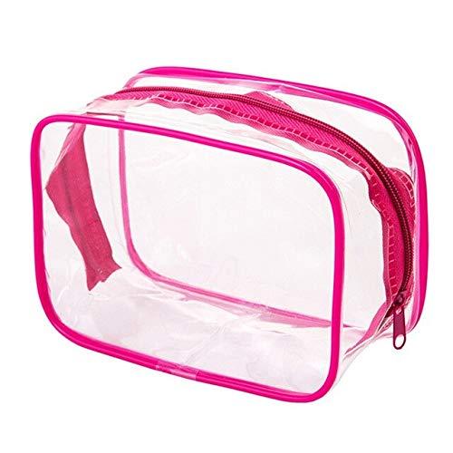 Travel Cosmetic Storage Bag Transparent Pvc Waterproof Makeup Storage Bag Color Square Girls Student Beauty Wash Bag