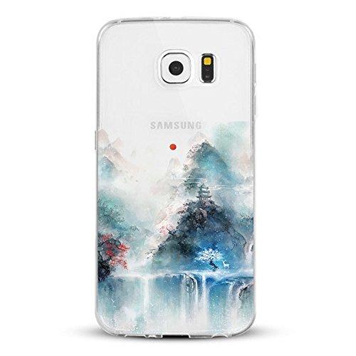 Samsung Galaxy S7 Edge Custodia,Alsoar TPU Natura Meravigliosa Cover Samsung Galaxy S7 Edge Popolari Case Anti-Scratch Gel Silicone Custodia per Samsung Galaxy S7 Edge (Scenario)