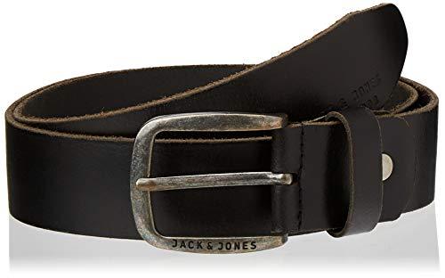 JACK & JONES Herren Gürtel Leder- 90Black