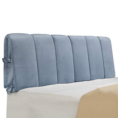 Find Discount SPLY DTEM Bed Cushion – Bedside Double Backrest Removable, 6 Colors, 4 Sizes (Color : Blue, Size : 200x50x8cm)