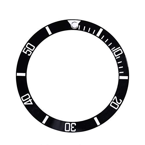 SALUTUYA Bisel de Reloj antidesgaste Diseño liviano Piezas de Repuesto de Reloj Que se utilizan para realzar el Brillo del Reloj Se utilizan para Proteger el Reloj(Black)