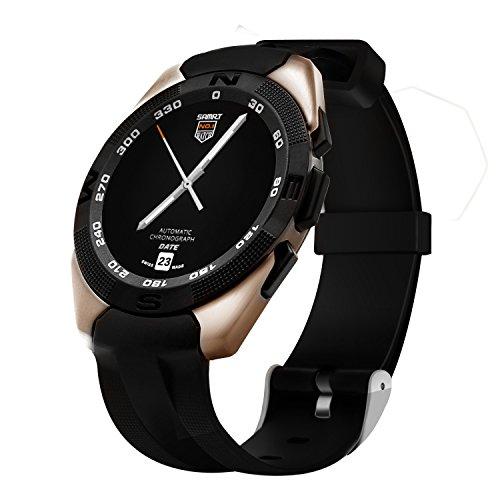 Bluetooth Smartwatch Smart Phone Mate, Smartwatch für Jungen, Smartwatch Activity Tracker/Fernbedienung Kamera/Pulsmesser (Golden)