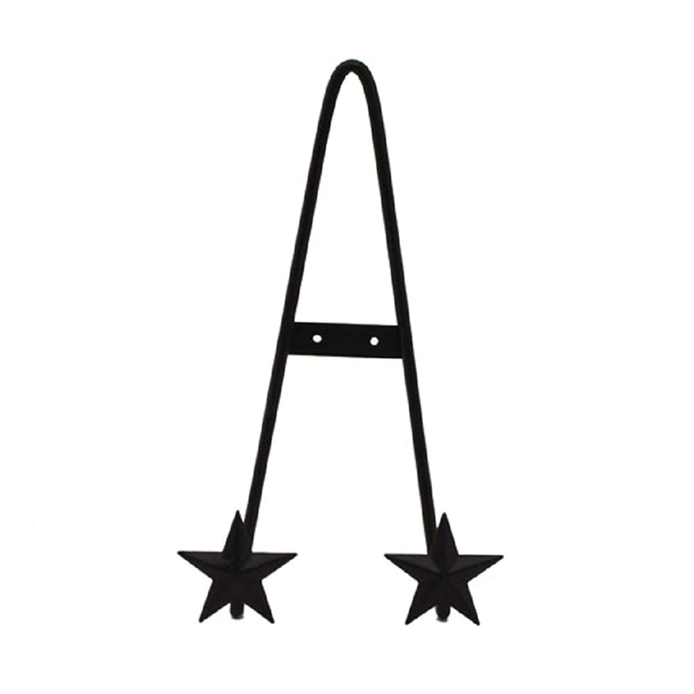 Direct International Black Metal Easel with Stars - 6