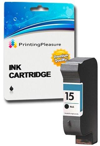 Printing Pleasure SCHWARZ Druckerpatrone für HP Deskjet 816c, 825c, 825cvr, 825cxi, 827, 840c, 841c, 842c, 843c, 845c, 845cse, 845cvr, 845cxi, 848c | kompatibel zu HP 15 (C6615DE)