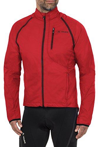 VAUDE Men's Windoo Jacket Veste Homme, Rouge, FR : L (Taille Fabricant : L)