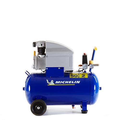 MICHELIN Compresseur d'Air MB50 - Cuve 50 Litres - Moteur 2 cv - Pression Maximale 8 bar - Débit d'Air 170 l/min - 10.2 m³/h