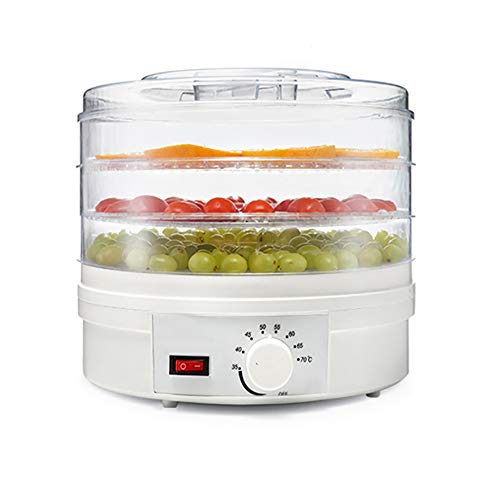 3 Stockwerke Elektrischer Dörrapparat Für Lebensmittel-Dörrgeräte Obst- Und Gemüse-Trockenobstmaschine, Ringförmige Blattventilatorsteckdose, Hoher Wirkungsgrad Und Mehr Energieeinsparung