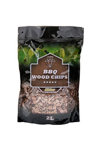 JoDo Astillas de madera para ahumar para barbacoas, 100% virutas de madera dura natural en aliso, roble, manzana sabor perfecto para pollo, cerdo, pescado, cordero, carne de vacuno y verduras (roble)