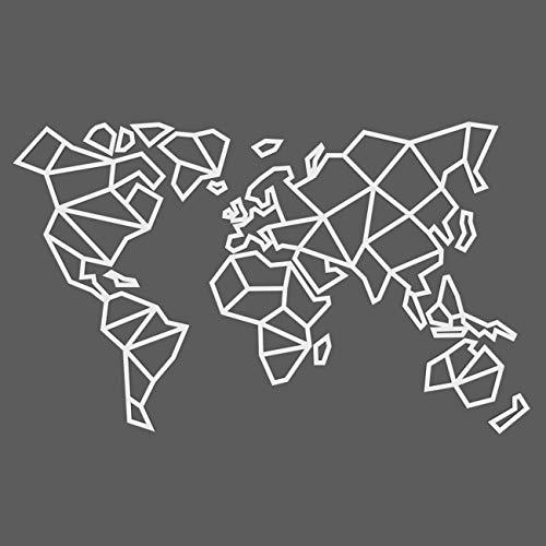 CONTRAXT Mapa Mundi Pared Moderno - Cuadro mapamundi Figuras geometricas Madera Decoracion Pared Paneles Decorativos 3D Murales Vintage habitacion Salon