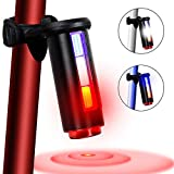 YOSKY USB Rechargeable Bike Tail Light, 360 Degree Safety Beam 7 Mode Bicycle Rear Light Waterproof Warning Cycling Police Light