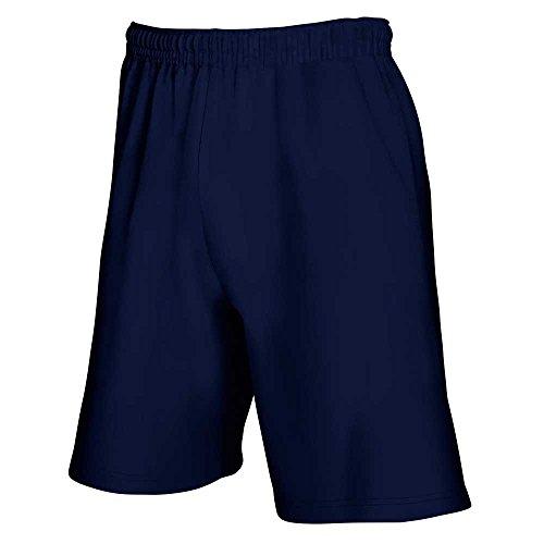Fruit of the Loom - Short de Sport - Homme - Bleu - Deep Navy - L