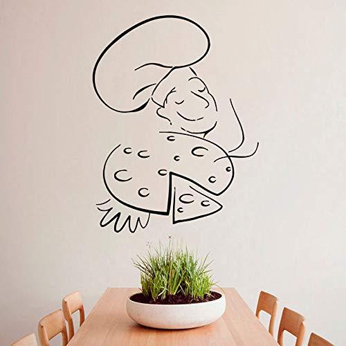 Pizza kochen heißen Koch Cafe Küche Wandtattoos Home Art Wandbild Vinyl Decals61cmx44cm