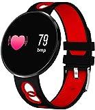 SNFHL Reloj Inteligente Bluetooth A Prueba Agua, Monitor Actividad Física, Monitor Actividad, con Pantalla A Color, Medición La Presión Arterial,Red