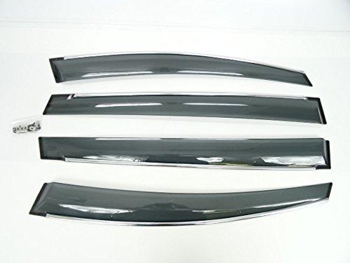 トヨタ ウィッシュ 20 系 (2009年4月から)ZGE25WG 20W 22W 取付金具付き メッキモール ドアバイザー サイドバイザー ドア サイド バイザー