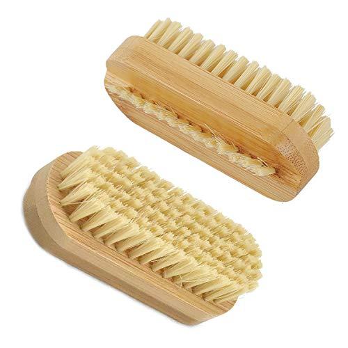 2pcs Brosses à Ongles pour les Mains Brosse de Nettoyage pour Récurer les Ongle Brosse de Lavage des Mains pour Manucure et Pédicure Brosse à Récurer en Bambou Outil de Nettoyage pour Orteils