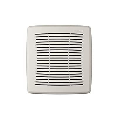 Broan-NuTone FGR101S Economy Replacement Square Ceiling Bathroom Ventilation and Exhaust Fans, Easy DIY Installation, White Grille Cover from Broan-NuTone