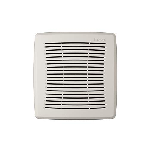 Broan-NuTone FGR101S Economy Replacement Square Ceiling Bathroom Ventilation and Exhaust Fans, Easy DIY Installation, White Grille Cover