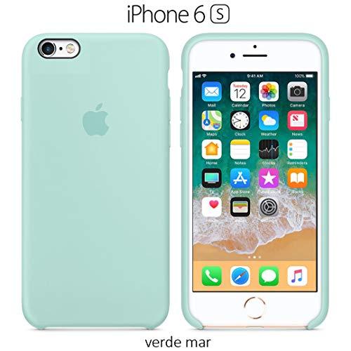 Funda Silicona para iPhone 6 y 6s Silicone Case, Logo Manzana, Textura Suave,...
