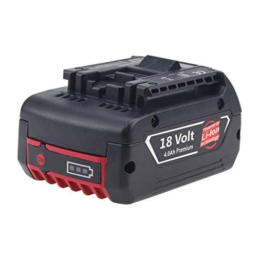 Boetpcr Reemplazo para Bosch 18V 4.0Ah BAT609 Batería Lítio-Ion Profesional Sin cable CoolPack GBA BAT609G BAT610G BAT618G BAT619 BAT621 BAT620 con Indicador LED Herramientas eléctricas