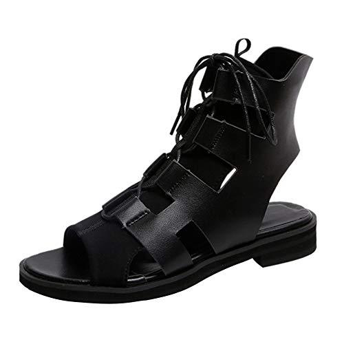 Pmlezs Frauen Sommergurte mit dickem Fischmund offene Zehensandalen Schuhe