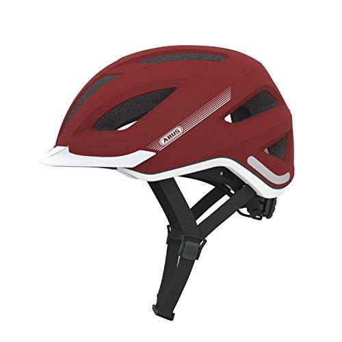 ABUS Erwachsene Fahrradhelm Pedelec, marsala red, 56-62 cm, 12758-8