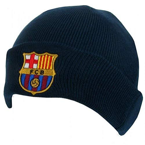 Barcelona F.C. Bonnet en Tricot Unisexe avec Manchette Bleu
