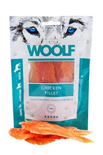 Woolf Golosina para perros. Filete de pollo disecado. Peso: 100 gr