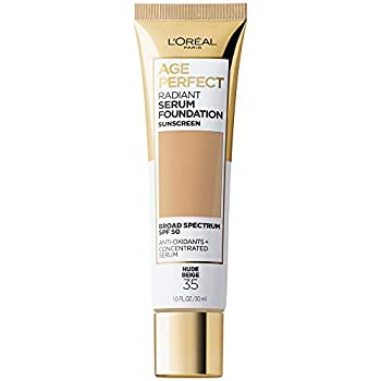 L Oreal Paris Age Perfect Radiant Serum Foundation with SPF 50 Nude Beige 1 Ounce