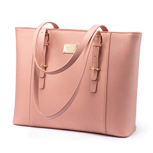 """Multi-pockets, large size-15.2""""(17.3"""")W x 12.2"""" H x 5.5"""" D, fit under 15.6"""" laptop, has lots of pockets for you carry a laptop, iPad, books, files, folders, mouse to office or school Multi-purpose, practical, chic and the ideal size for all what you ..."""