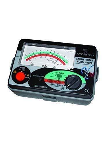 WEI-LUONG Tester del medidor de Resistencia Probador de Resistencia al Suelo Kyoritsu 4102A-H, 1200 ohmios Instrumento de medición