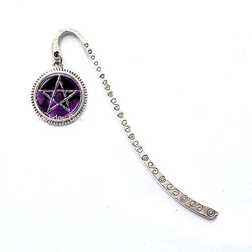 Fashion Bookmark,Pentagram Bookmark Pentagram Jewelry Pentagram Bookmarker Wicca Bookmark Protection Amulet Pagan Bookmark Wiccan Jewelry Pentacle Bookmark,H057